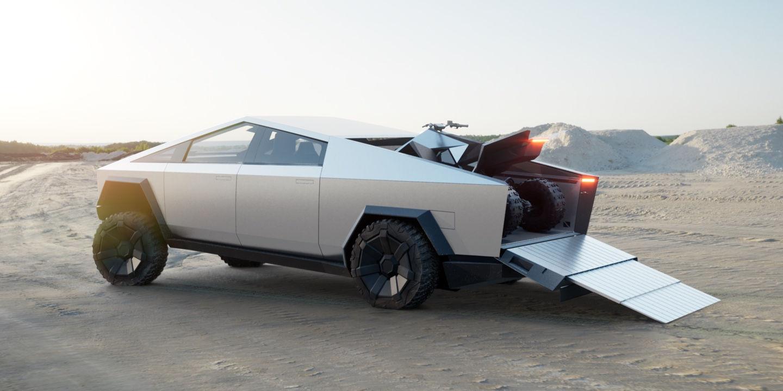 Tesla Cybertruck with the ATV