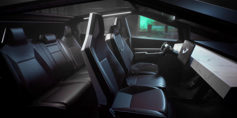 Tesla Cybertruck interior pics