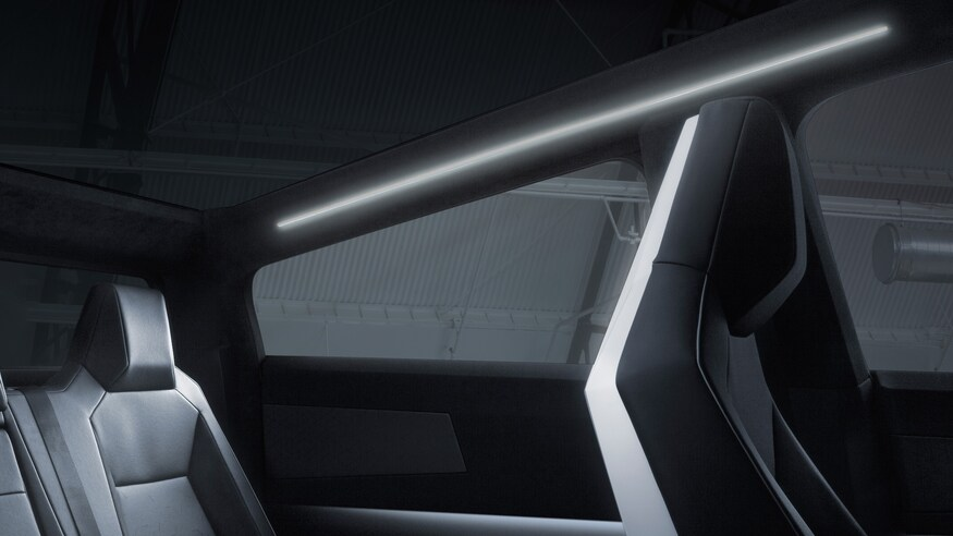 Tesla Cybertruck back seat