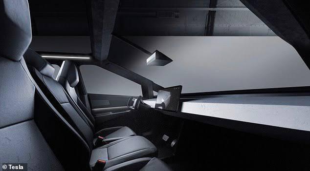 Tesla Cybertruck dashboard