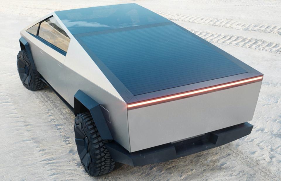 Tesla Cybertruck solar charging