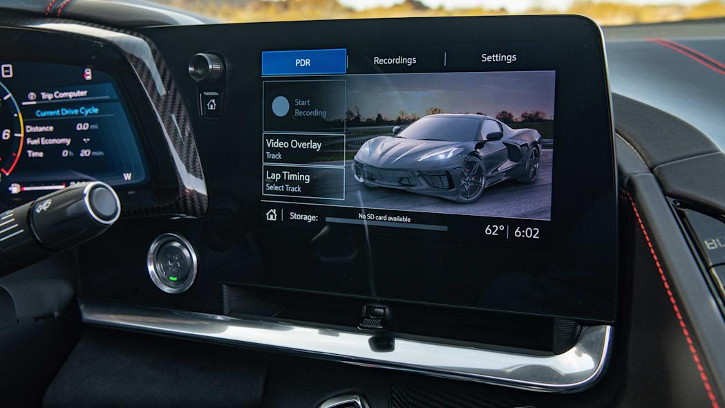 infotainment system of the 2020 Chevrolet Corvette Stingray