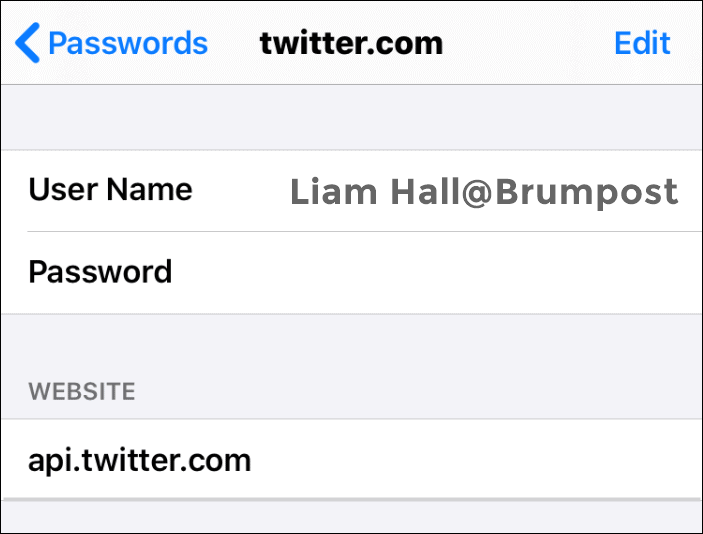 View your saved password on Safari