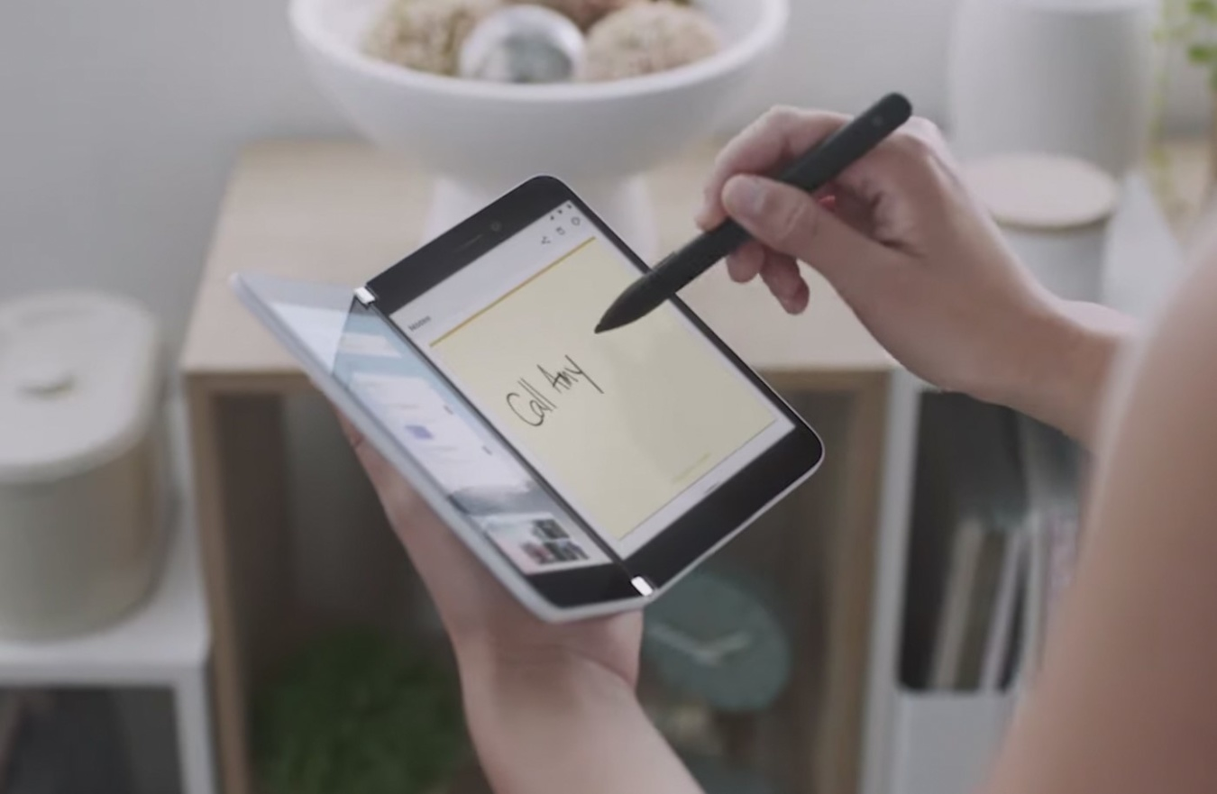 Microsoft Surface Duo has support for a stylus pen