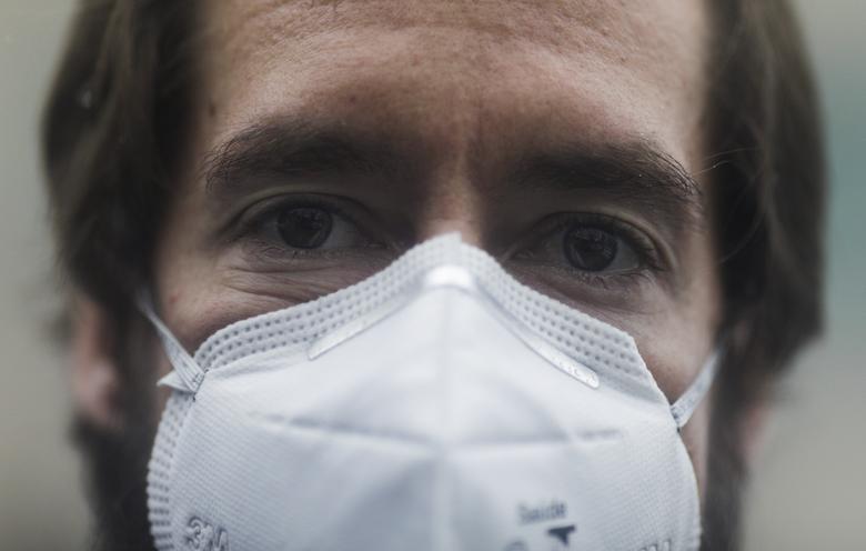 . Doctor Pedro Archer is pictured outside a hospital during the coronavirus outbreak, in Niteroi, near Rio de Janeiro, Brazil, September 22, 2020. REUTERS/Ricardo Moraes