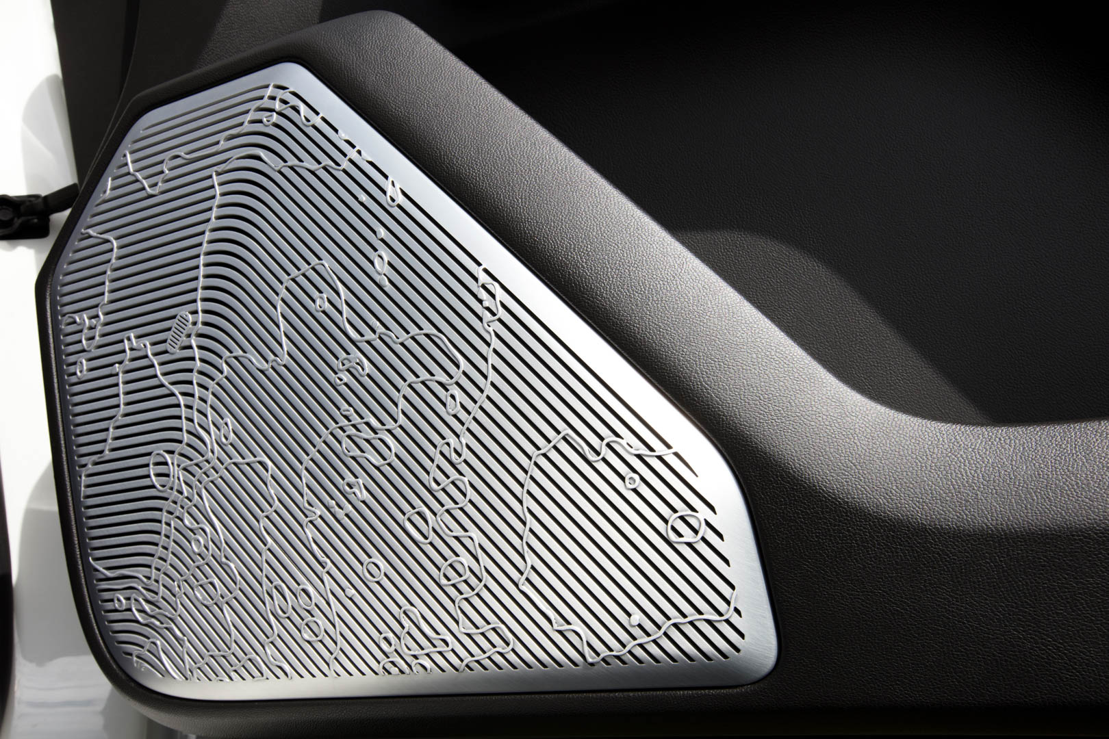 Speaker grill of the Hummer EV 2022