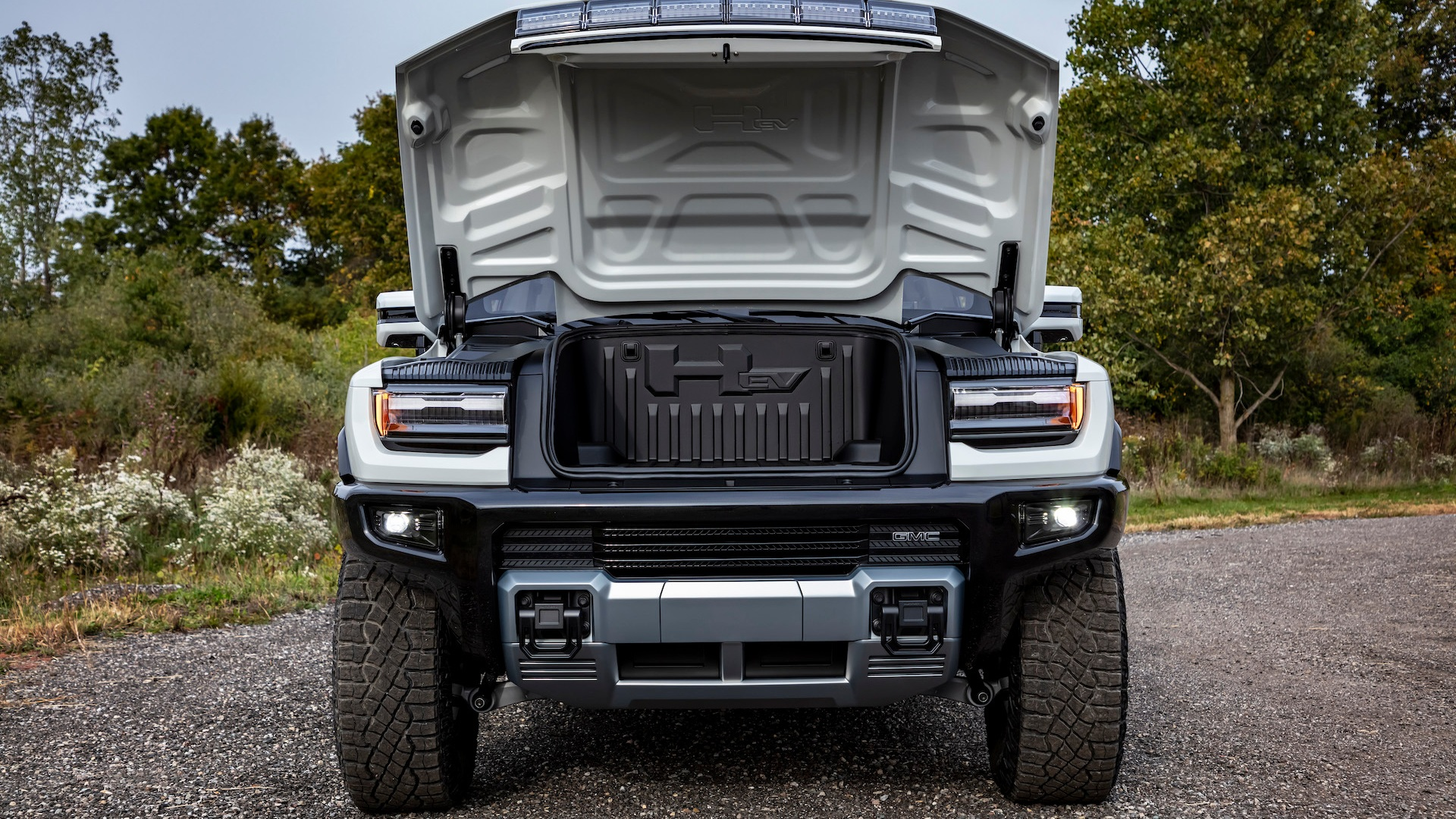 The trunk of the GMC Hummer EV 2022