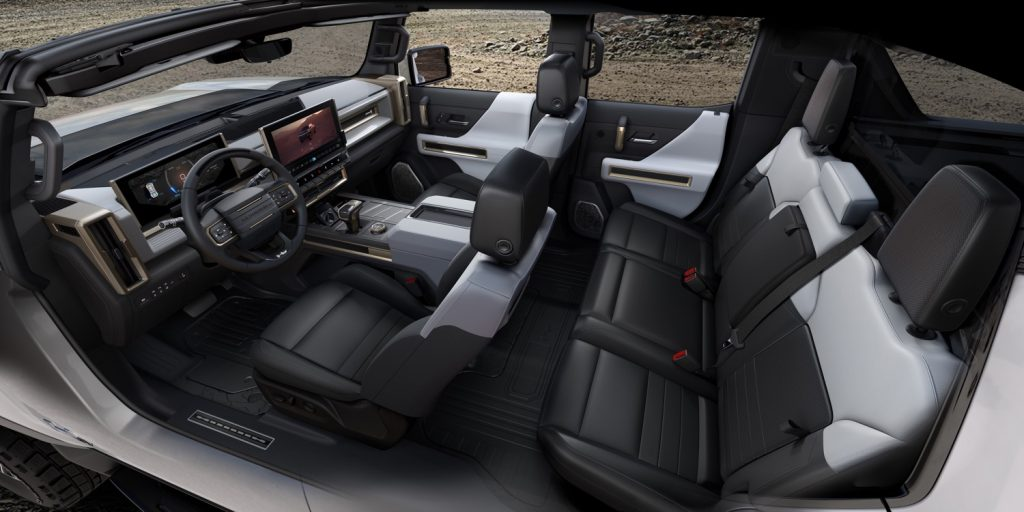 Interior of the GMC Hummer EV 2022