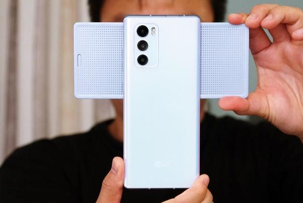 LG Wing 5G back has triple camera setup