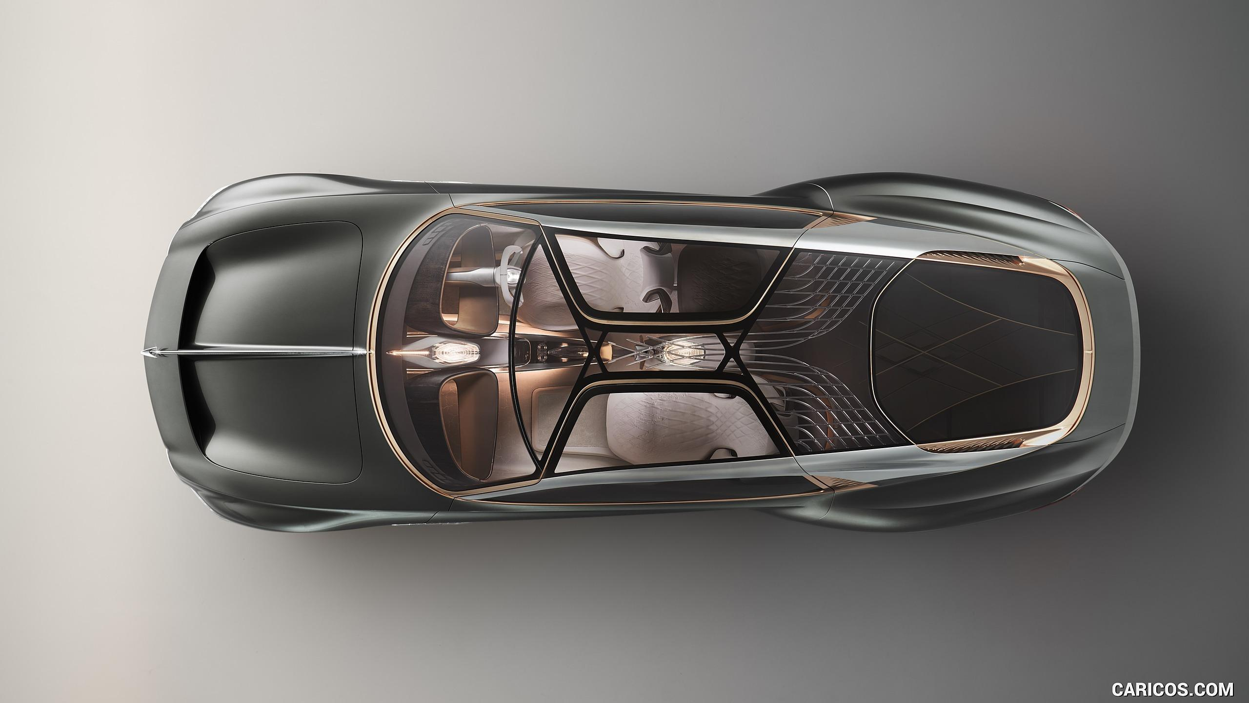 The Bentley EXP 100 GT aerial view