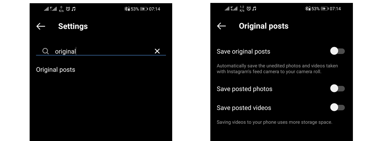 This is how to stop instagram from saving photos