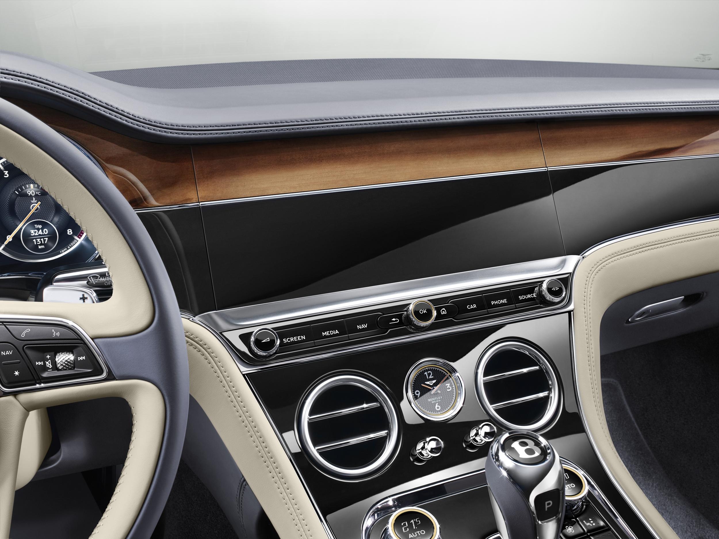 Bentley Continental GT dashboard design