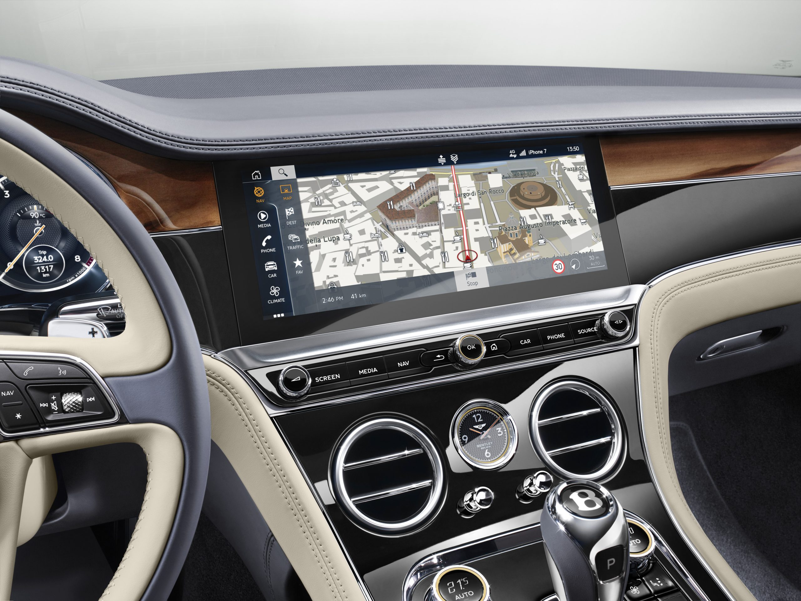 Bentley Continental GT infotainment system