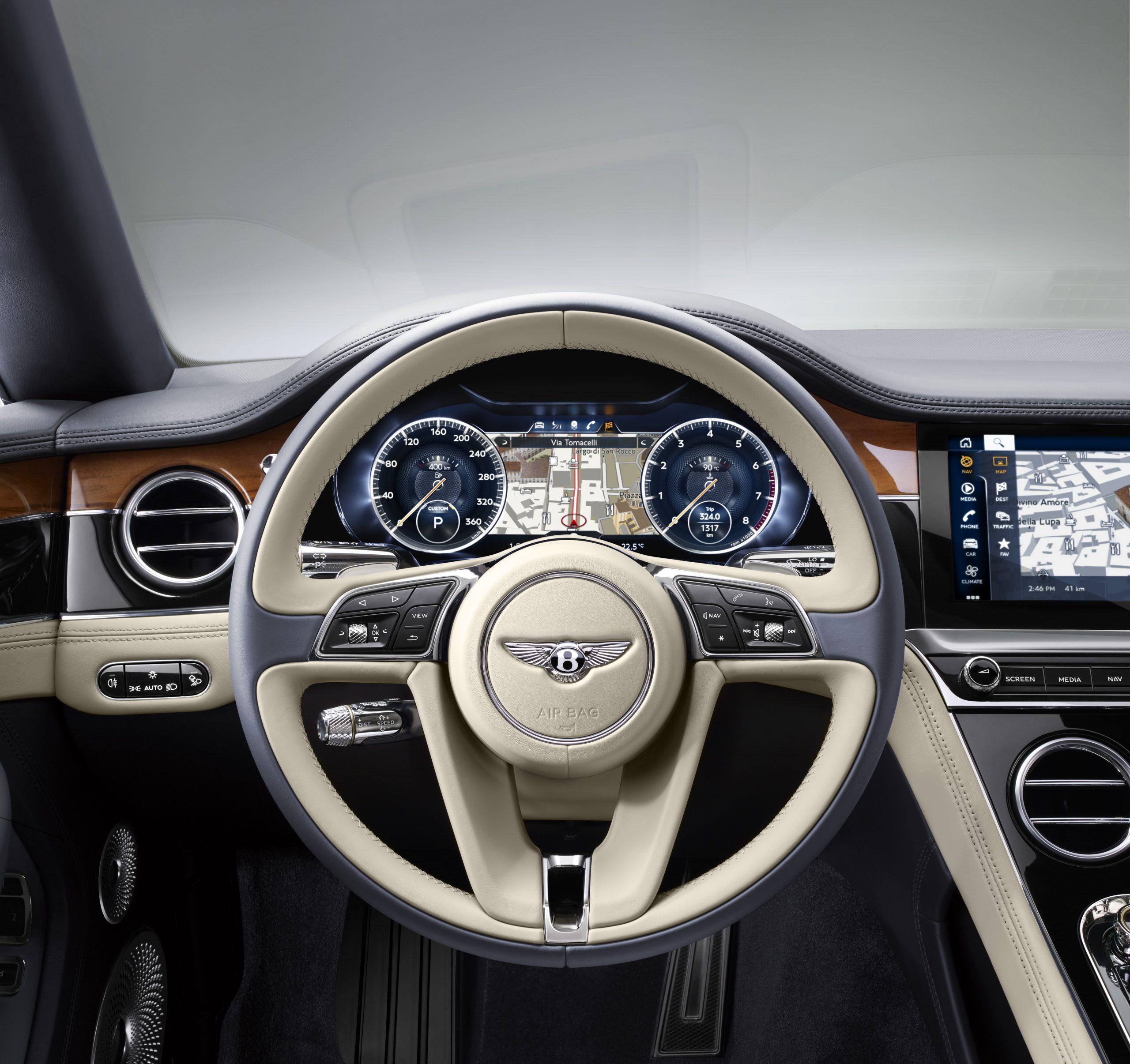 Bentley steering wheel