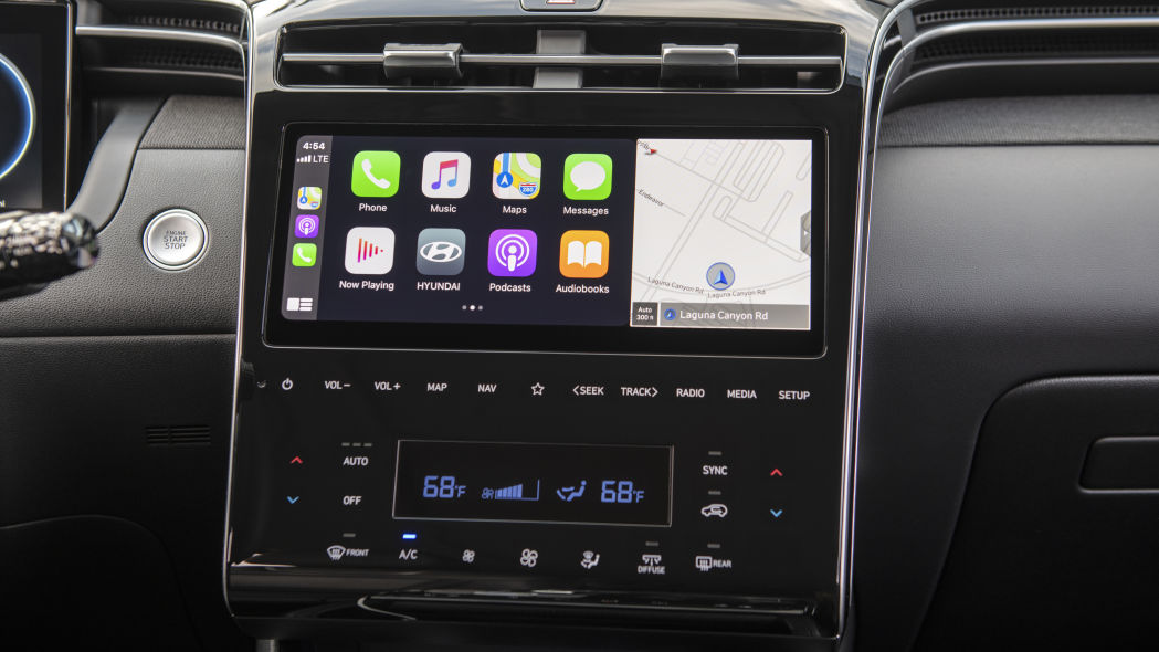 Hyundai Tucson 2022 infotainment system