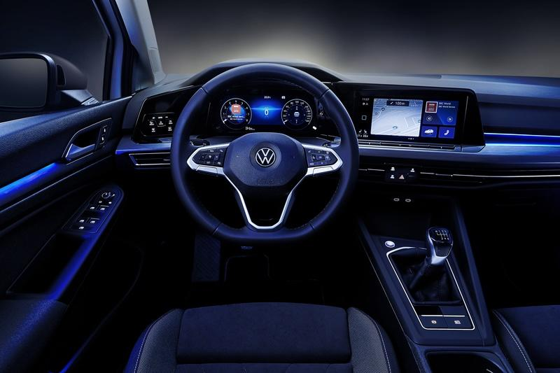 This how is the nice view from the driver's seat when you are n the 2022 Volkswagen Golf R