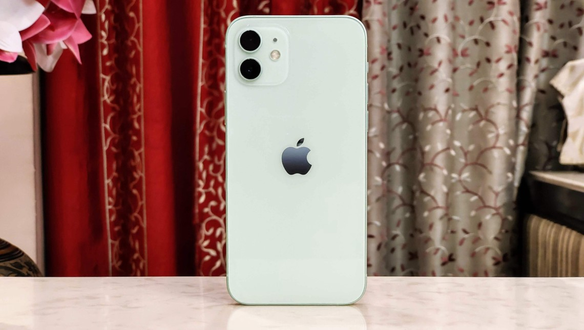 The back of the iPhone 12