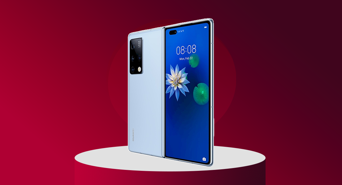 The Huawei Mate X2 has a lovely cool screen reflecting component