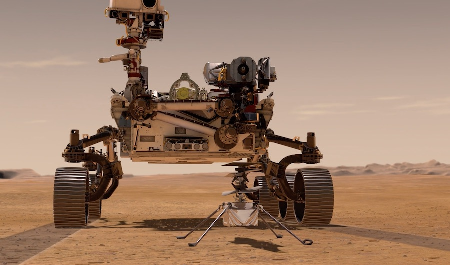 NASA Perseverance rover will also carry an helicopter to further the mission at a later point.