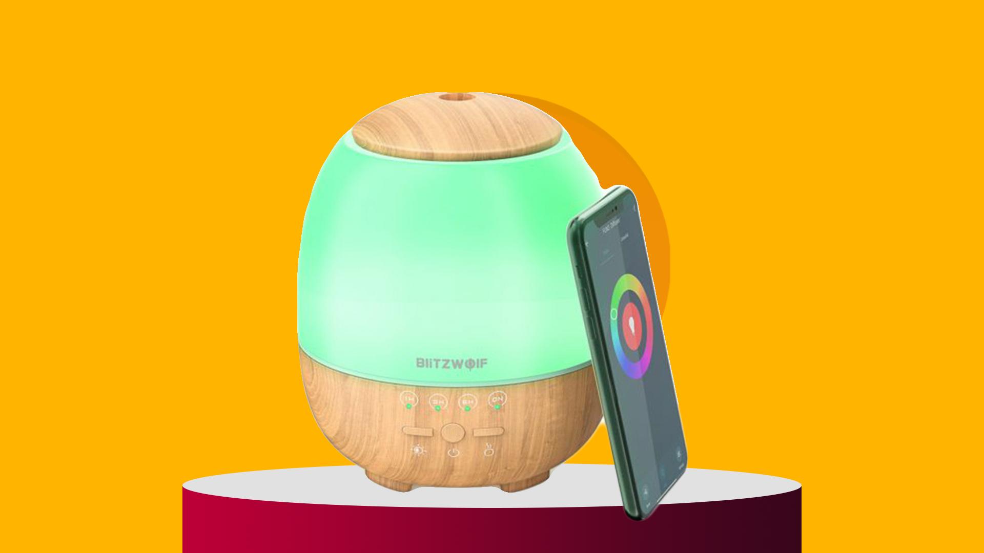 BlitzWolf® BW-FUN3 Wi-Fi Essential Oil Diffuser deal